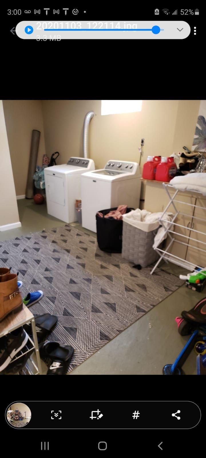 Vinyl Plank Installation - Laundry Room