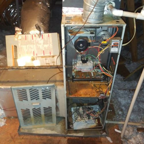 inefficient furnace Rusted out