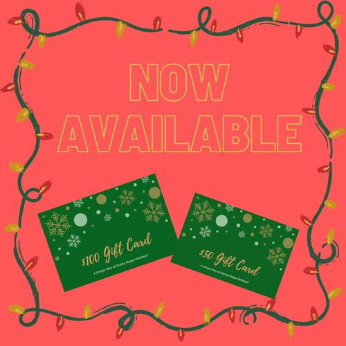 Snag a gift certificate for a loved one this holiday season!