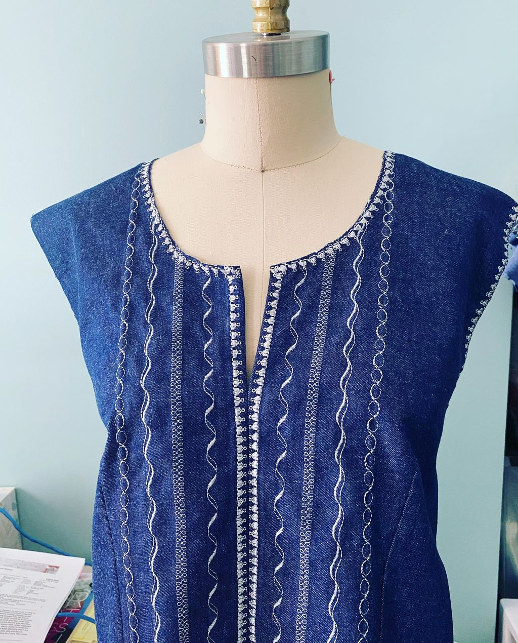 Embroidered Front of Dress