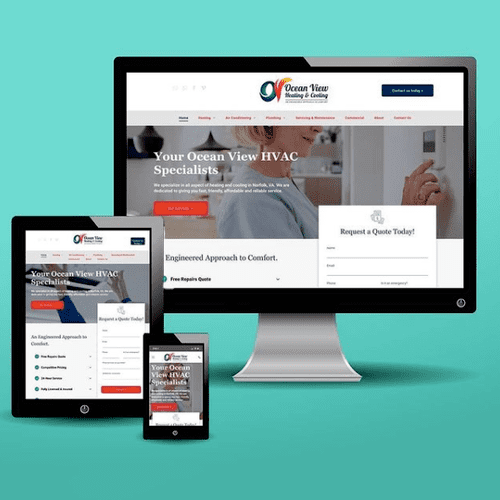 HVAC website design, branding, seo