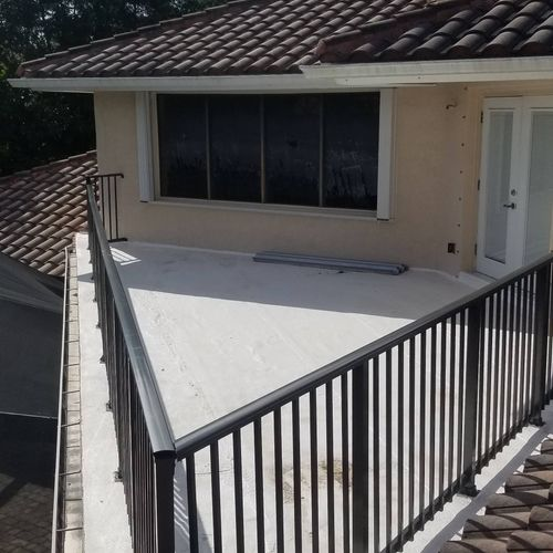 railings on the roof