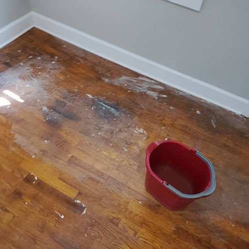 Revitalization of original wood floor before pictures
