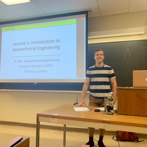 Teaching my first course at UC San Diego.