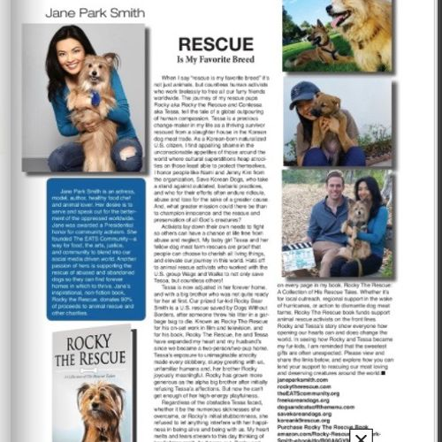 a writing sample featuring some animal rescue supportive work!