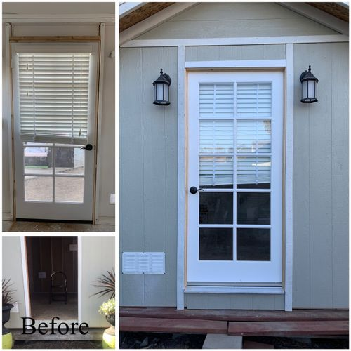 Before and After door installation
