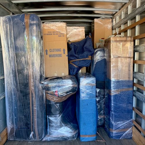 We protect your furniture with blankets and shrink wrap