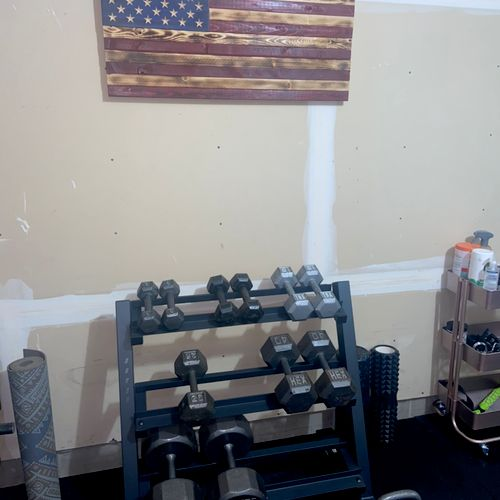 Growing collection of assorted dumbbells/kettlebell!
