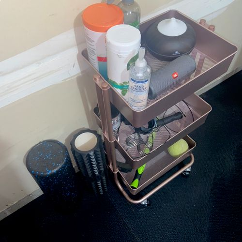 Sanitizing/recovery station in my home gym