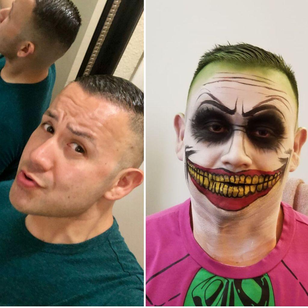 Halloween party makeup