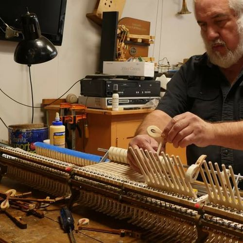 Installing new hammers for a vintage Steinway.