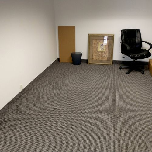 after picture of the L desk office pick up in farmers branch tx