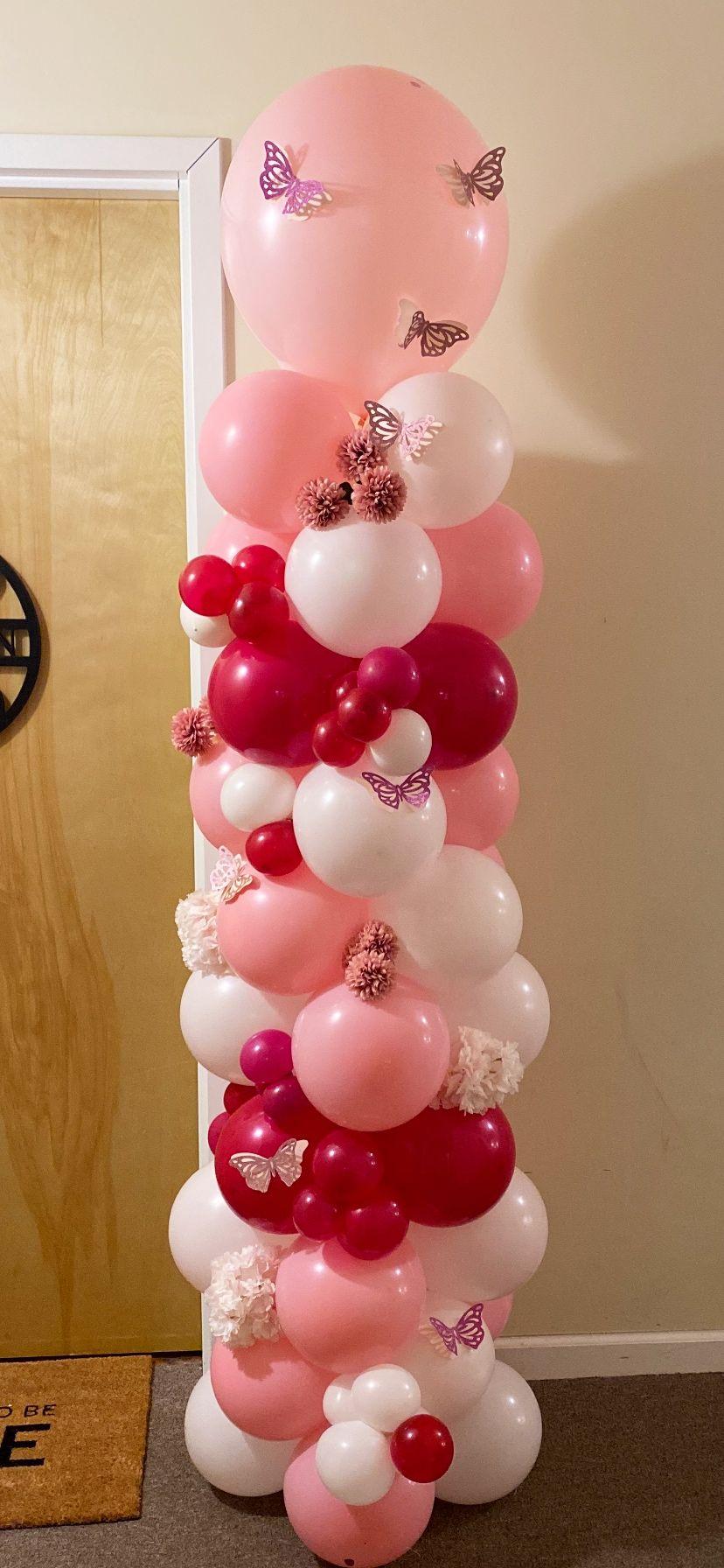 Butterfly Balloon Column