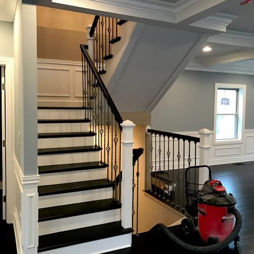 Staircase from scratch with single and double basket wrought iron