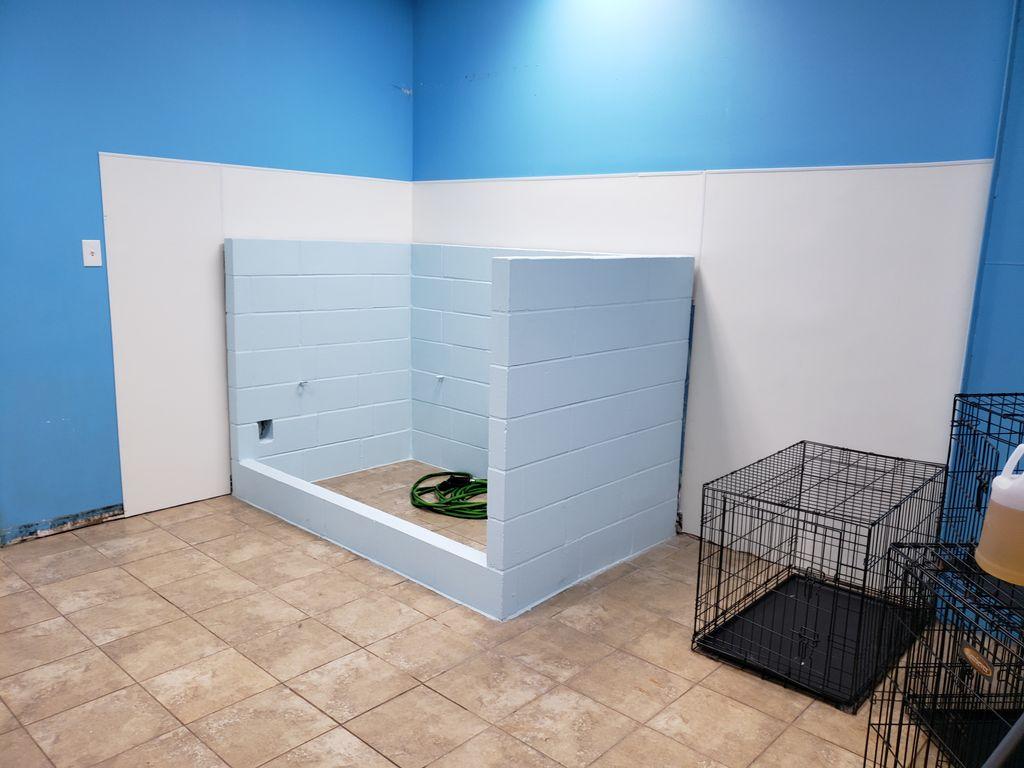 Dog groomers shower