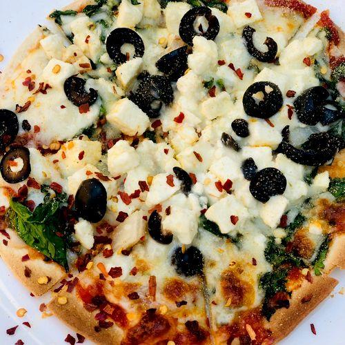Gluten free  vegetarian pizza 192 calories