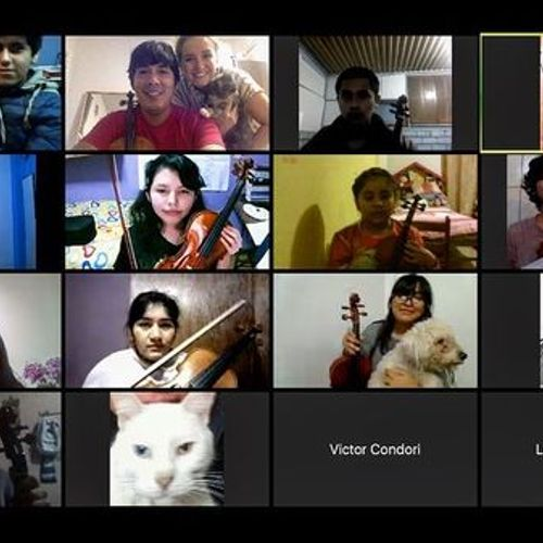 Masterclass with students from Los Violines de San Juan (Lima-Peru)