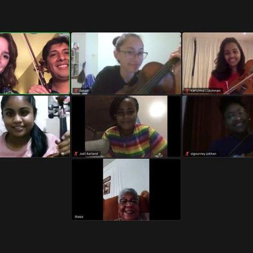 Masterclass with students from Muziekschool Bellas Artes Suriname