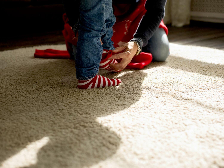 kids feet on carpets