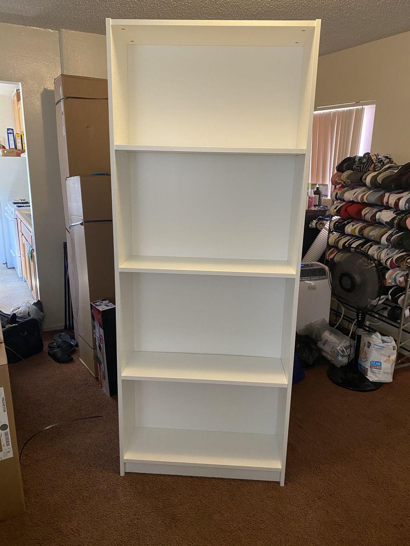 Shelf, Dresser, L Shaped Couch & Office Desk