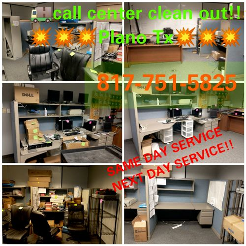 call center clean out in Plano Tx