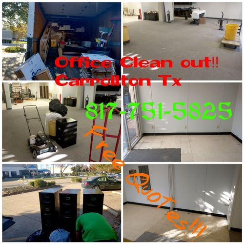 office cleanout in Carrollton Tx