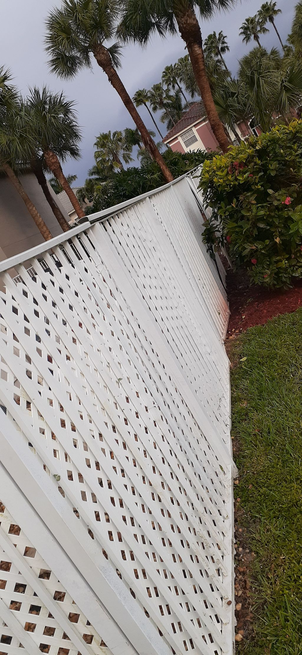 Removing old fence, applying new one