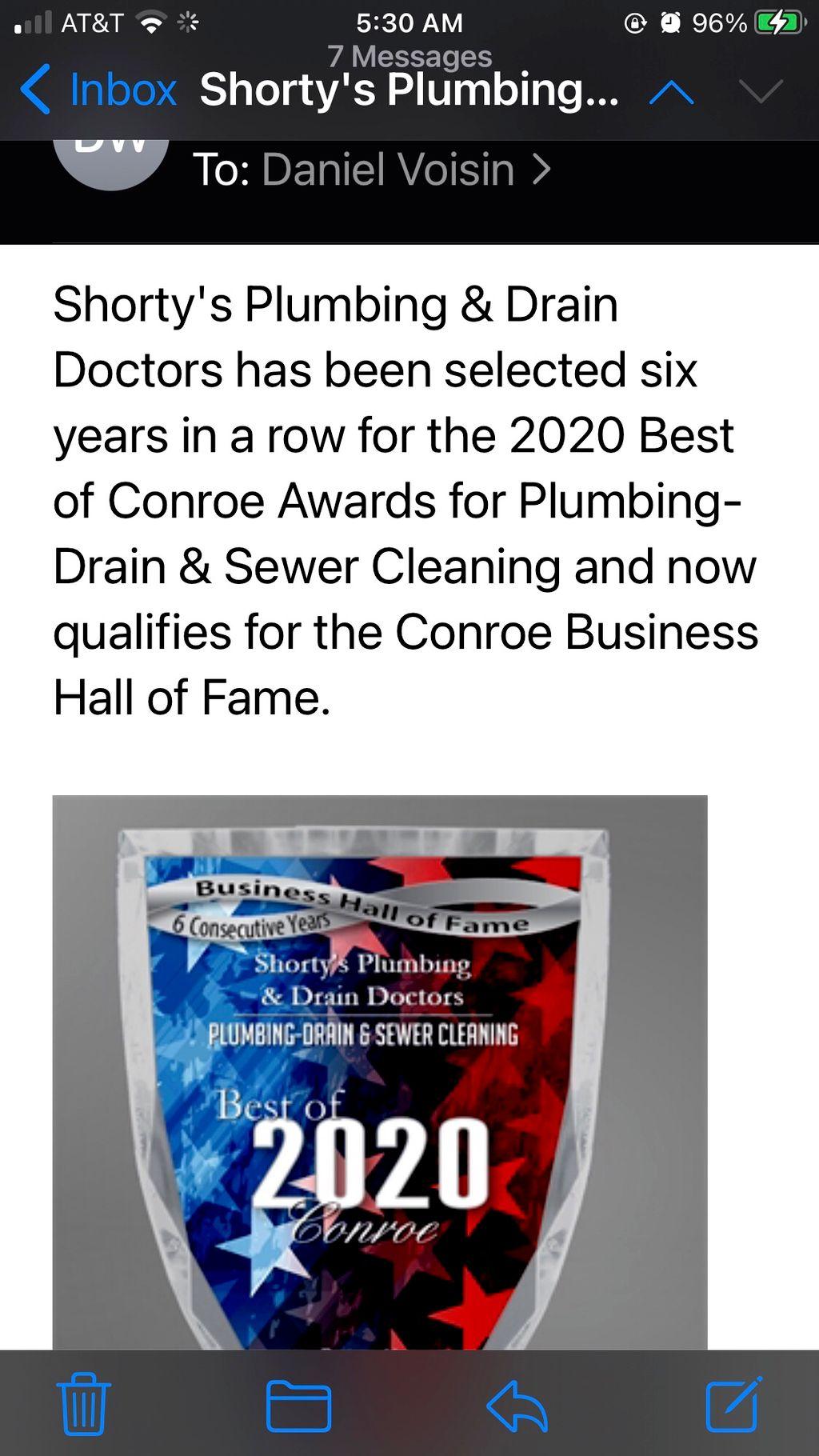 Shorty's Plumbing & Drain Doctors