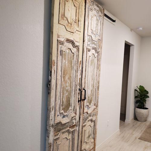 Exclusive Pitch Pine Solid Antique doors Installed