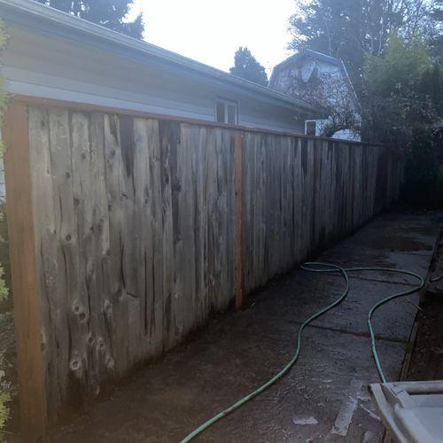 finished product utilizing existing planks.