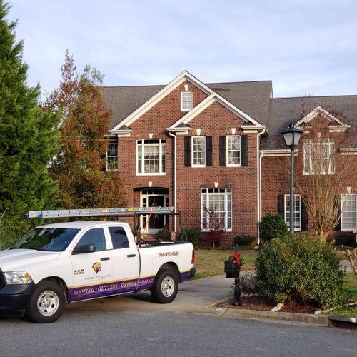 Roof Repair & Painted Shutters