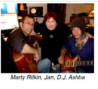Jan, Marty Rifkin, D.J. Ashba from  Mötley Crüem Motem Mot