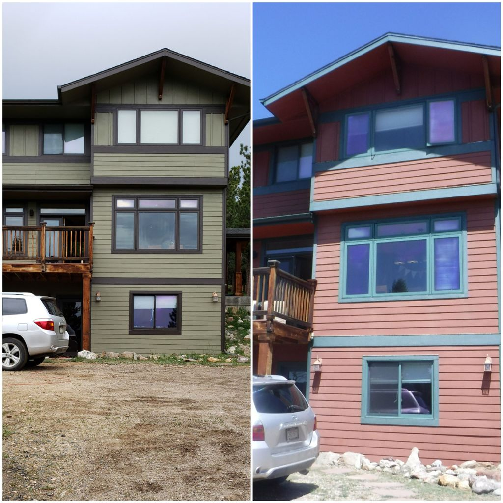3 story mountain house repaint