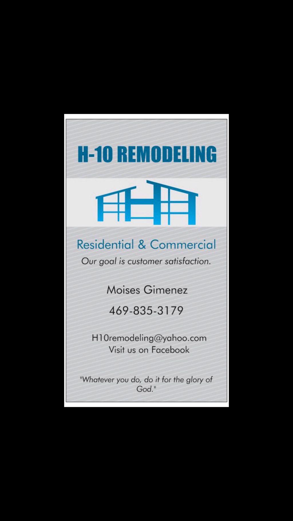 H-10 Remodeling, LLC,