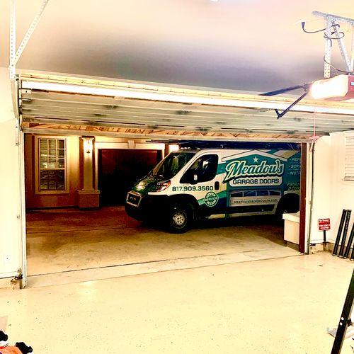 Meadows Garage Door Service Van