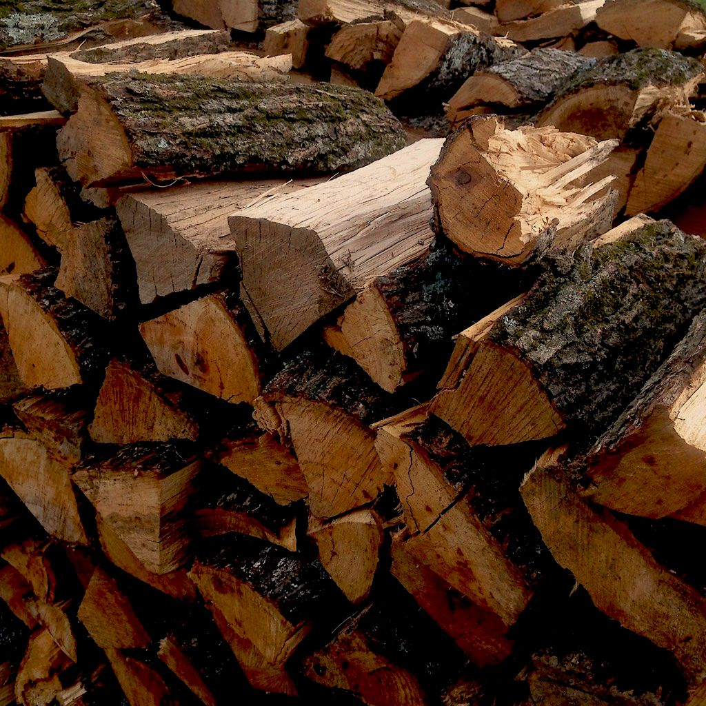 2 Cords of Split and Stacked Firewood