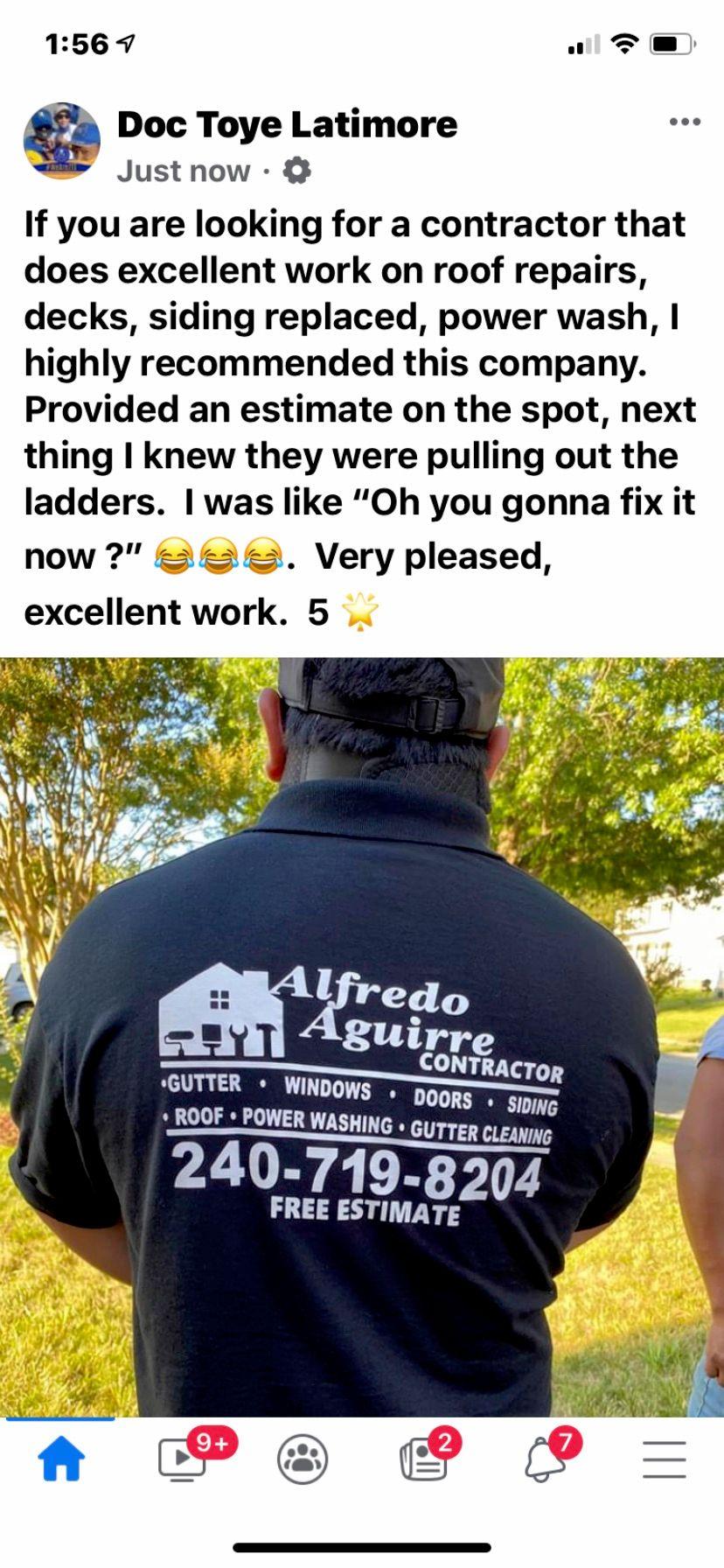 Alfredo Aguirre Contractor llc
