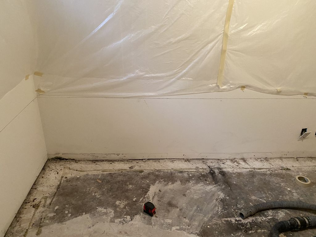 22ft Interior Basement Waterproofing with Sump Pump