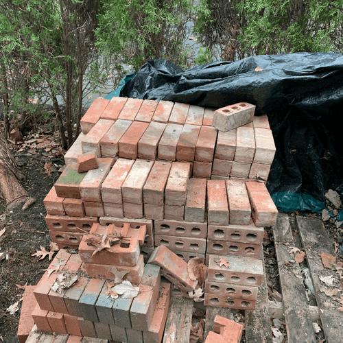 Brick Pile Haul Before