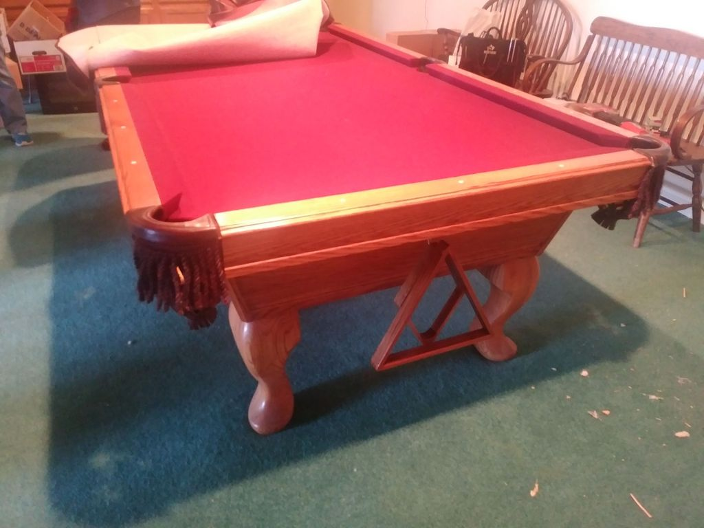 Pool table move - assemble and disassemble