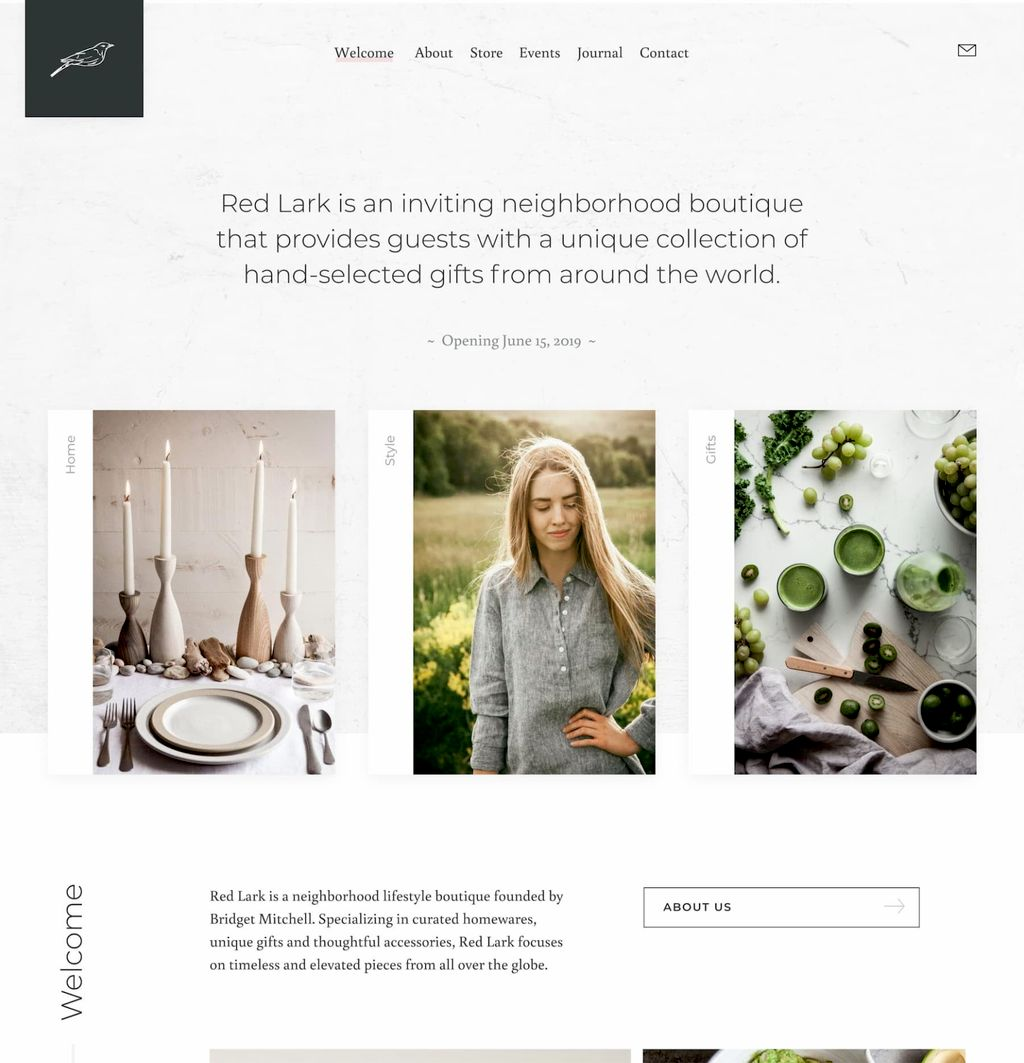 Red Lark Boutique Home Store