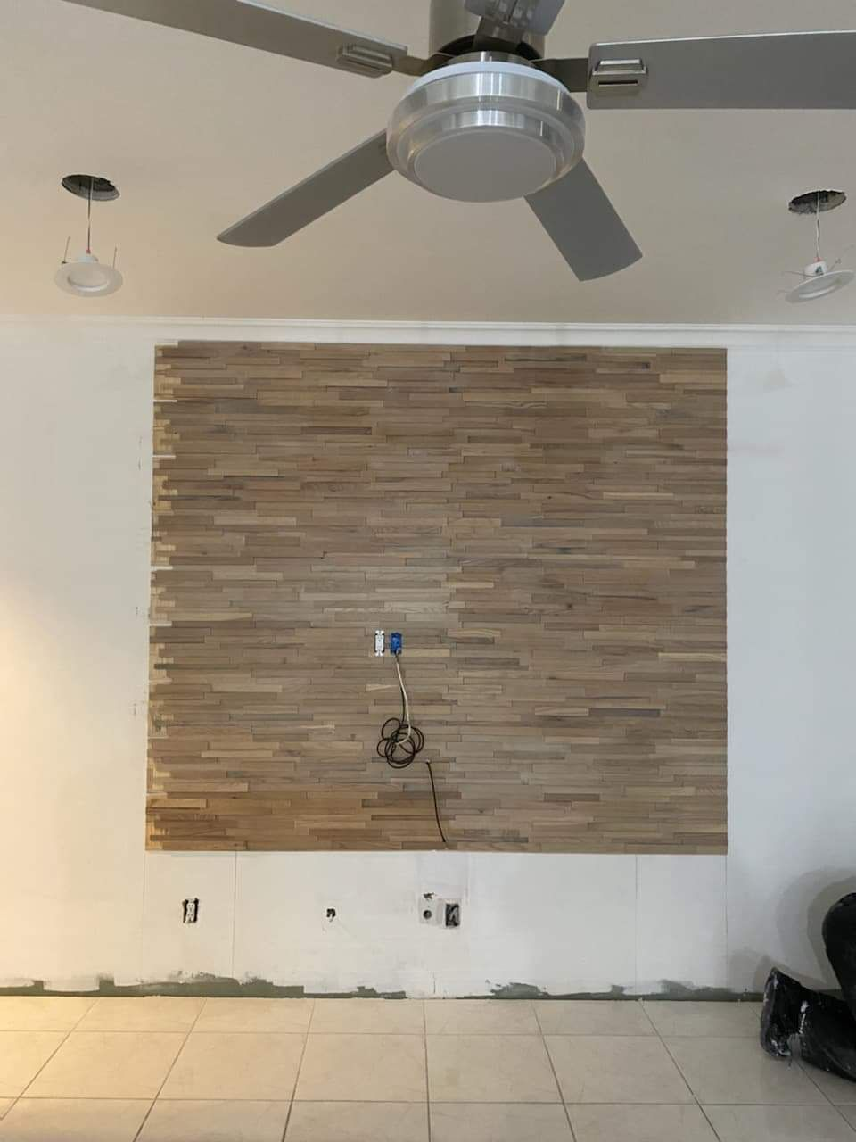 75 inches TV mounting on a custom wall