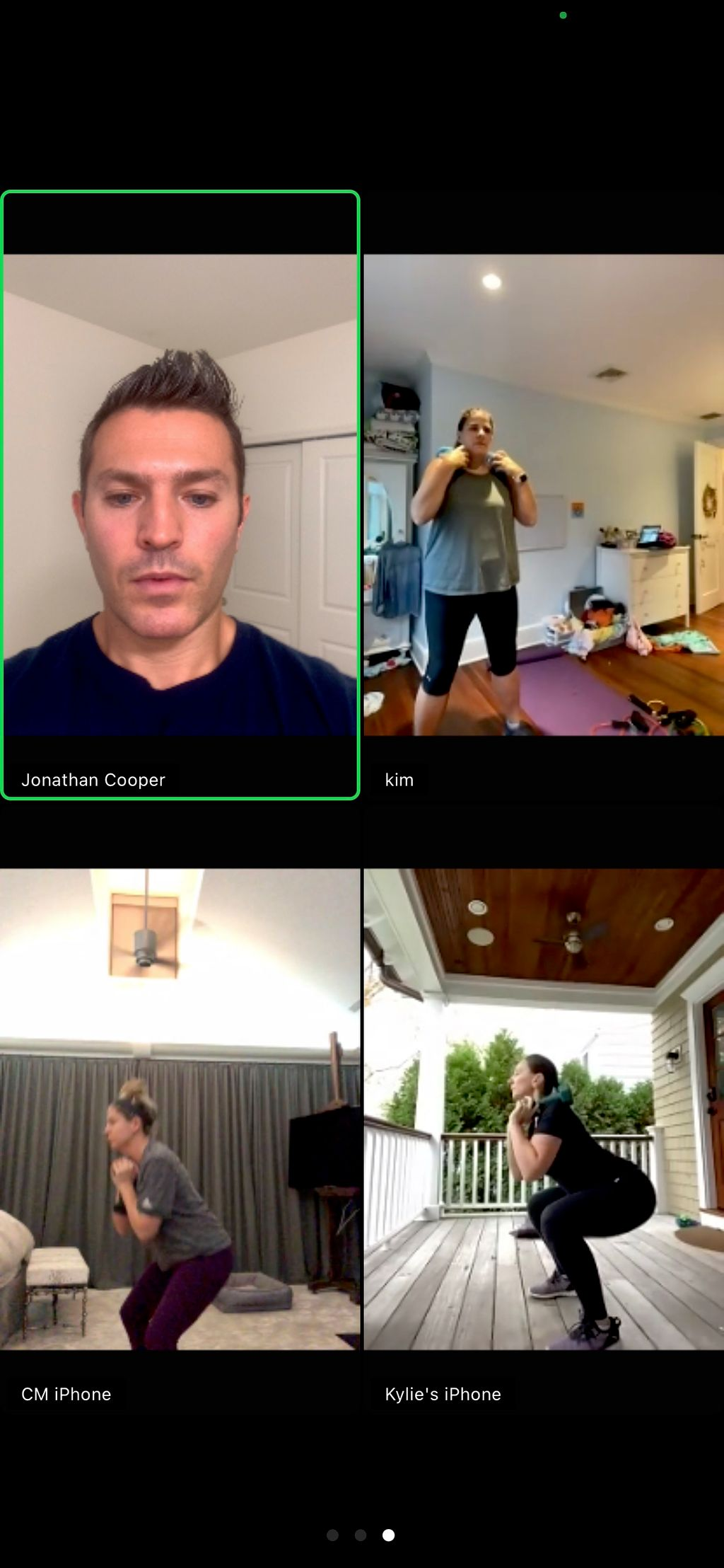 Live training through Zoom or Facetime