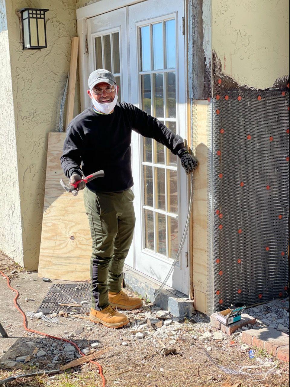 Exteriors walls repair, painting whole property