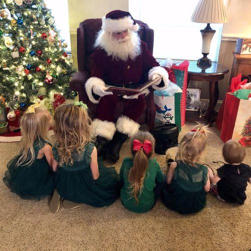 Santa reading Twas the Night Before Christmas. 12/21/2020