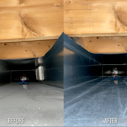 Trunk line before and after!