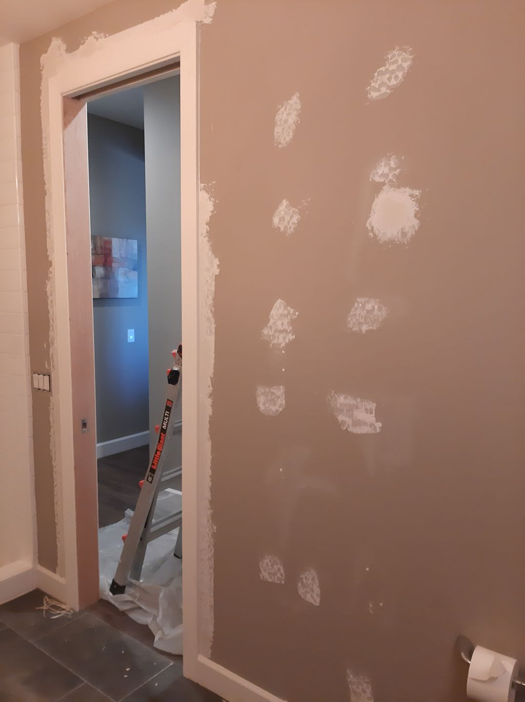 Wall patch, texture, & paint