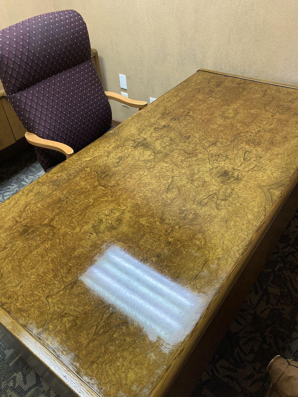 High quality wood desk restore