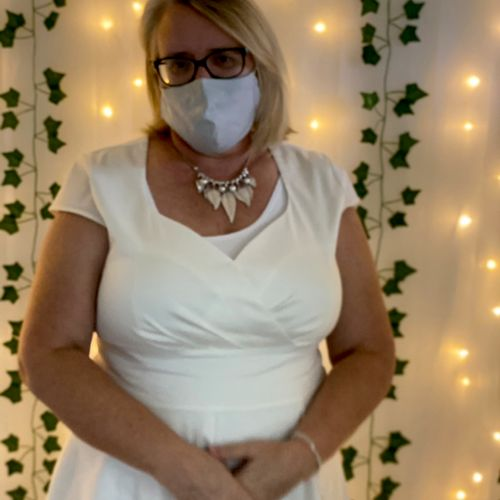 The bride asked me to wear white!