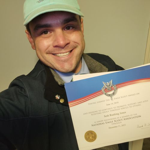 After a decade of being an Eagle Scout ... finally became a board certified member of the National Eagle Scout Association
